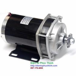 Động cơ chổi than 24V 500W giảm tốc xe điện