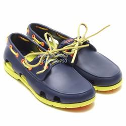Crocs beachline boat cho nam màu xanh navy đế cốm