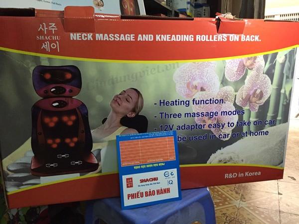 Đệm massage Shachu SH898-3D 2 mảnh vỏ hộp