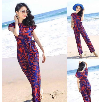 Jumsuit tay con cột eo