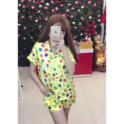 Set short ngũ pijama _MỎ CHU SHOP