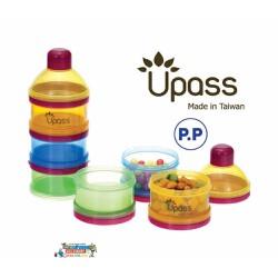 Hộp đựng sữa 3 ngăn bằng nhựa trong suốt không BPA có bộ chia UPASS