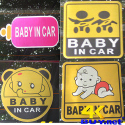 Baby in car decal phản quang