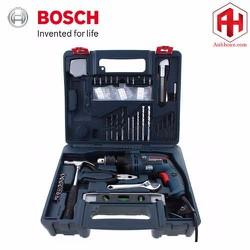 Máy khoan Bosch GSB 16 RE và bộ dụng cụ 100 chi tiết