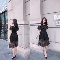 Đầm ren hở vai Quảng Châu
