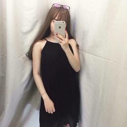 Đầm voan dập ly 2 lớp