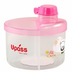Hộp chia sữa tròn không BPA Upass màu hồng