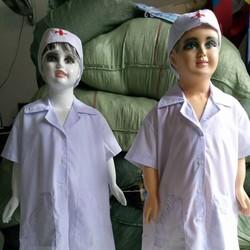 Set bộ áo kèm nón bác sĩ trẻ em