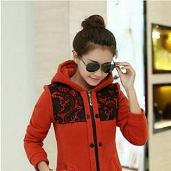 Áo khoác form dài phối ren – phong cách Hàn Quốc