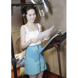 Set Áo 2 Dây Và Chân Váy Chữ A Xinh Như Ngọc Trinh S498