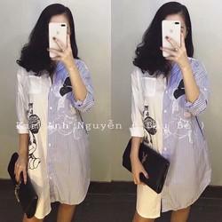 Đầm sơmi in mickey _MỎ CHU SHOP