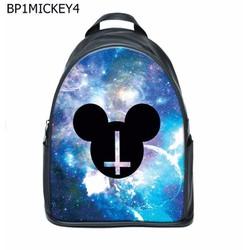 Balo Teen Natthy Mickey Galaxy Simili Da Cao Cấp Chống Thấm