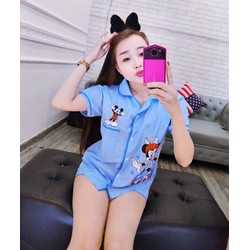 Set short ngũ pijama mickey _MỎ CHU SHOP