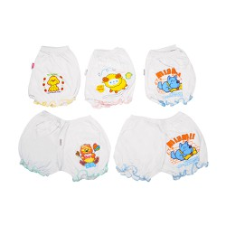 Combo 5 Quần phồng trắng in Nanio_0-24m