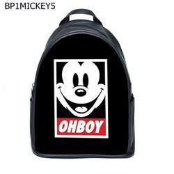Balo Teen Natthy Mickey Ohboy Simili Da Cao Cấp Chống Thấm