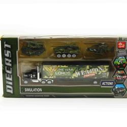 Bộ xe quân sự trên siêu xe container