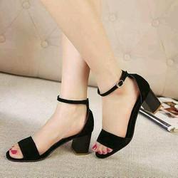Giày sandal nữ đế vuông đơn giản