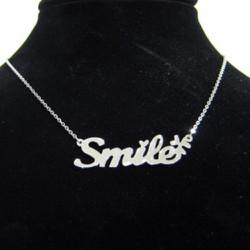 Dây chuyền inox chữ smile xinh xắn