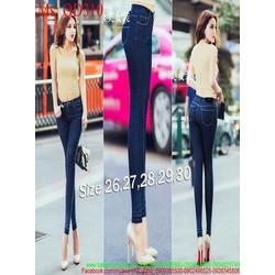 Quần jean nữ lưng cao ống ôm viền ống sành điệu QD310