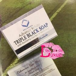 Xà phòng rửa mặt trắng da Relumins Triple Black Soap