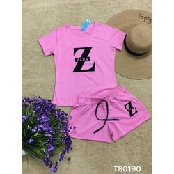 Set bộ short chữ Z- 3 màu