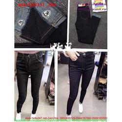 Quần jean nữ dài lưng cao sành điệu thời trang QD331