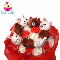 Hoa gấu brown và thỏ cony