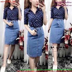 Chân váy jean nữ hàng thái phong cách sành điệu CVJ33