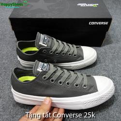 Giày Conver Chuck II da Pu Supperfake fullbox tặng tất CV giá 25k