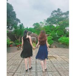 Đầm maxi phối ren _MỎ CHU SHOP