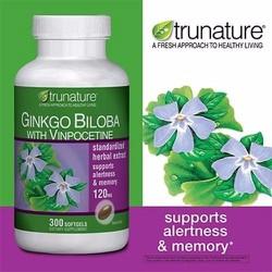 Viên uống bổ não Trunature Ginkgo Biloba with Vinpocetine