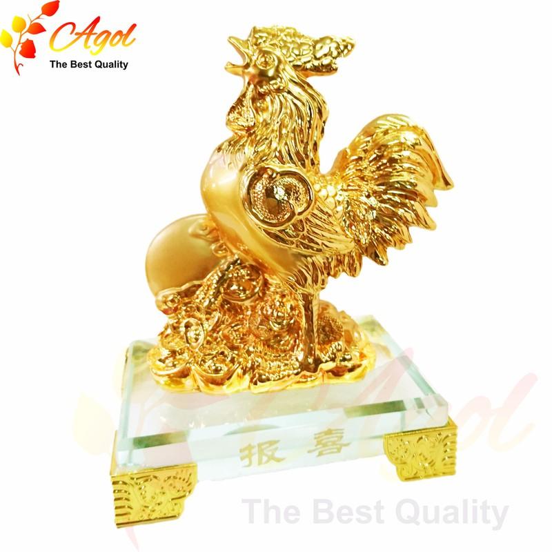 Tượng gà trống vàng 1