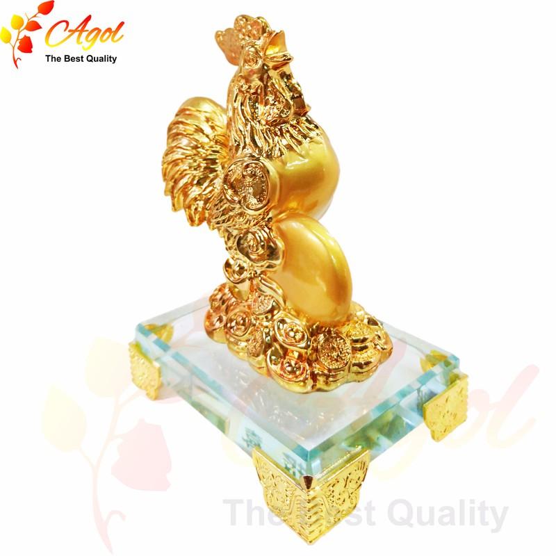 Tượng gà trống vàng 3