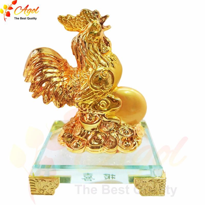 Tượng gà trống vàng 2