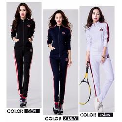 Bộ quần áo thể thao tay dài in Logo American Girl - AV5021