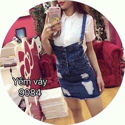 Váy yếm jeans was rách Quảng Châu