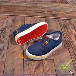 Giày slip on trẻ em đế cao su nhẹ chống trượt GLG043-xanhden