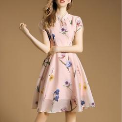 Hàng nhập: Đầm xòe họa tiết tươi trẻ NX207