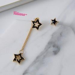 BÔNG TAI LUCKY STAR - TATIANA - B2610 - ĐEN