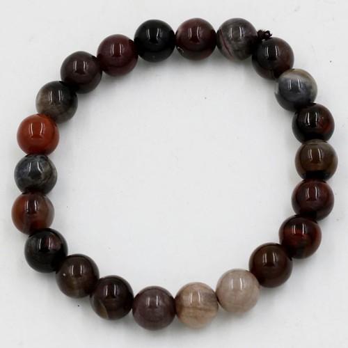 Hạt chuỗi lắc tay gỗ hóa thạch 8 ly, gỗ hoá đá