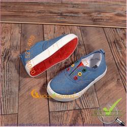 Giày slip on trẻ em đế cao su nhẹ chống trượt GLG043-xanhngoc