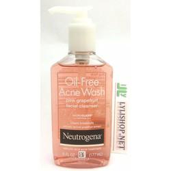 Sữa rửa Mặt Neutrogena Oil free Acne Wash Pink Grapefruit 177ml Mỹ