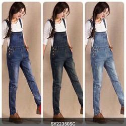 Yếm jean dài túi to SY968 hàng xuất khẩu