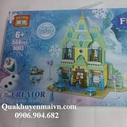 Đồ chơi lego lâu đài Frozen người tuyết 566 miếng