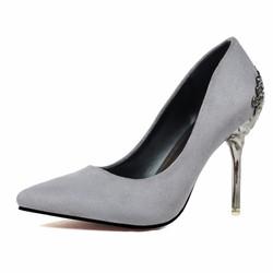 Giày cao gót mũi nhọn da lộn 10cm đẹp sang trọng 1723