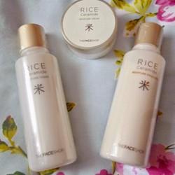 Nước hoa hồng Rice Ceramide Moisture Toner – The Face Shop.