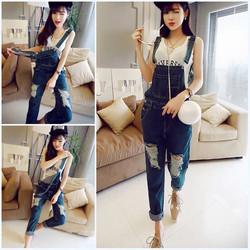 Yếm jeans dài was rách Quảng Châu
