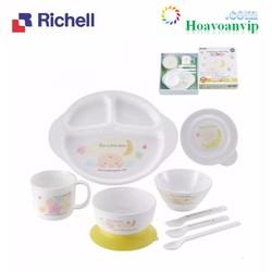 Bộ Ăn Dặm LO 9 Món Richell RC53151 Nhiều Màu