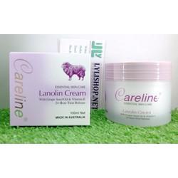 Kem Mỡ Cừu Careline Lanolin Cream chứa Vitamin E  hộp 100g từ Úc