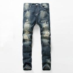 Quần Jeans Nam Rách Cao Cấp, Kiểu Dáng Hàn Quốc, Hàng Nhập Khẩu